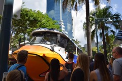 AquaDuck /  / Gold Coast / Australia (haphopper) Tags: cruise people bus tourism water face car fun drive duck ship australia vessel qld queensland destination attractions surfersparadise goldcoast 2015   armyduck ool