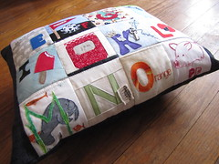 Alphabitty Pillow A-P (needleanddime) Tags: bbc bittyblockcommittee