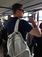 Fellow passenger, bus to the airport terminal, Ljubljana, Slovenia (Paul McClure DC) Tags: people airport slovenia ljubljana slovenija airtravel brnik may2015