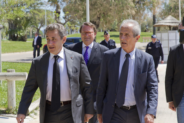 Déjeuner de travail avec Nicolas Sarkozy à Toulon