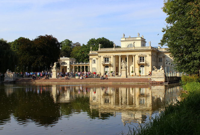 Khu phức hợp công viên - cung điện Lazienki Królewskie, điểm đến không thể bỏ lỡ ở Warsaw - Ảnh wiki