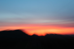 Sky from a window #8 - Blurry sunset (Alfonso_vx) Tags: red motion color tramonto effect rosso mosso