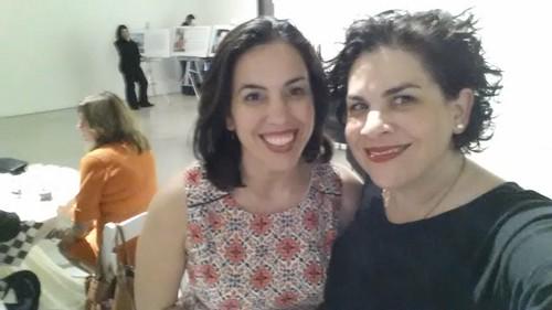 Pelaez Sisters' selfie at MDC Museum of Art  and Design