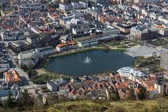 Beautiful Bergen (Jake Waage) Tags: travel norway flickr bergen mtflyen eurotrip2015
