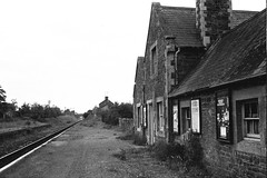 Copplestone station, (1), 1975 (Blue-pelican-railway) Tags: station railway devon copplestone