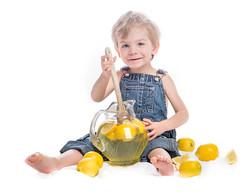 When Life Hands Him Lemons (kate.millerwilson) Tags: boy portrait fruit toddler child lemonade lemons overalls highkey alienbees strobist nikond7100
