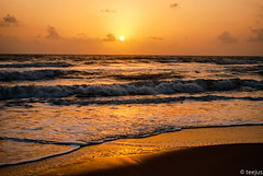 C u r t a i n s  down! (t.e.e.j.u.s) Tags: sunset sunlight india beach asia waves goa beaches beachsunset aasia baga fantasticnature beautifulcapture