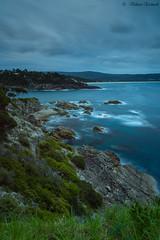 Eden , NSW, Australia (vahraz) Tags: ocean longexposure blue sky green nature clouds skyscape landscape ngc australia shore nsw eden bluehour suset ndfilters canon6d