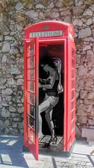 (cazador2013) Tags: mujer chica telephone cabina telefono