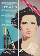 Lancome 1988 (barbiescanner) Tags: 1988 80s lancome spymagazine vintageads isabellarossellini 80sfashion 80smakeup vintagebeauty 80sbeauty vintagecosmeticsads