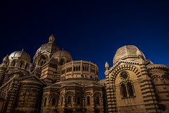 Miracle (korylp) Tags: blue sunset summer france building history church architecture canon major marseille europe cathedral miracle cathedrale klp lamajor 5dmkiii