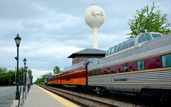 Saturday's Special (Theresa*) Tags: old cars station clouds train illinois track special passenger metra roselle