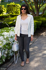 white blazer, grey jeans, lace up flats, white bag-10.jpg (LyddieGal) Tags: white fashion grey spring outfit gap style denim wardrobe tjmaxx blazer rayban officestyle gorjana rebeccaminkoff laceupflats
