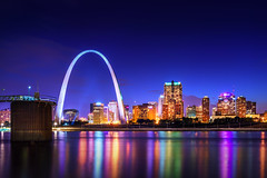 St Louis (Zouhair Lhaloui) Tags: sky skyline architecture night clouds river nikon cityscape arch bright cloudy outdoor stlouis missouri gatewayarch highrises 2016 stlouisskyline nikond810 zlphotography zouhairlhaloui