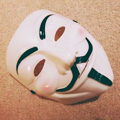 112/366 - Probably the strangest thing... (Spannarama) Tags: square mask creepy april vforvendetta anonymous 366