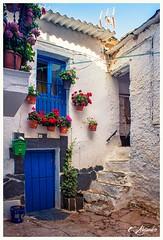 Tpica casa alpujarrea (Por ESTEBAN ALEJANDRO) Tags: flowers blue house flores casa village antique pueblo andalucia granada casas alpujarras