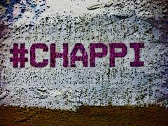 Hashtag Chappi (Steve Taylor (Photography)) Tags: blue brown white streetart abstract art texture wall graffiti tag mauve chappi twitter hashtag