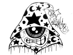 graffiti sticker one eye wizard (marcomacedo3) Tags: cholowiz graffiti sticker nazer26 mtsk paste stamp slaps collabs spraycan trade