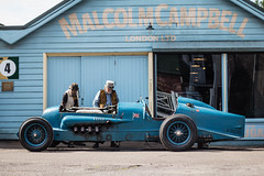 Quirky all round. Brooklands Double Twelve Festival 19.6.2016 (Jackbaker53) Tags: brook lands double twelve vintage classic race car land speed record blue brooklands festival