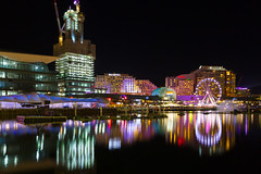 Reflect (ImagesByLin) Tags: longexposure nightphotography light colour night canon reflections lights colours sydney vivid darlingharbour vivid2016