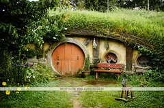 Hobbiton movie set - New Zealand (Naomi Rahim (thanks for 2 million hits)) Tags: newzealand nz 2016 northisland hobbiton matamata movieset movie set lotr lordoftherings thehobbit hobbit architecture house grass green colourful nikon nikond7000 travel travelphotography wanderlust door orange