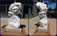 WHY OH WHY by Jade Windell (Visual Images1) Tags: two sculpture diptych siouxfalls picmonkey