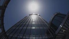 skyscraper (johnny eighto) Tags: burj khalifa tallest building skyscraper sun up reflection look