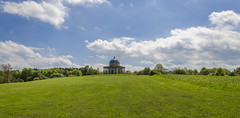 The Temple of Minerva (Preston Ashton) Tags: park blue summer sky field grass sunshine clouds temple pano sunny panoramic minerva hardwick templeofminerva prestonashton
