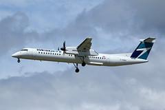 Westjet Encore   Dash8-402Q   C-FENY (Globespotter) Tags: westjet encore dash8402q vancouverintl cfeny