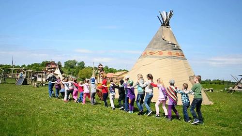Indiāņu ciems, Lietuvā
