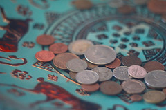 Currently Currency (exsoartdetroit) Tags: coins decorative bowl teal animals design color depthoffield 50mmlens canon 18f camera photography detroit photographer