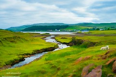 Osdale River leading into Loch Dunvegan, Scotland, UK. (NeilAlexanderD) Tags: cloud mountain skye green weather clouds rural landscape island scotland landscapes countryside highlands skies isleofskye cloudy country scottish scot greens atlanticocean cloudscape cloudscapes neilalexander