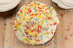 Colorfull muffin (radebg) Tags: sugar crumbs cake color wooden sweet bread snack gourmet yellow cupcake delicious topped eating homemade dessert food decoration muffin bakery background cream icing baked