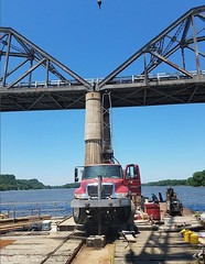 river drilling 1 (modot_northeastdistrict) Tags: champ clark bridge pike county missouri modot drilling mississippi river hwy 54