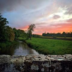 River Nanny Duleek Meath Ireland. Sky on Fire (jwhiteireland) Tags: dusk meath river nanny ireland