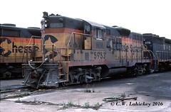 WM 5953 on 5-28-79 (C.W. Lahickey) Tags: wm emd gp9 connellsville