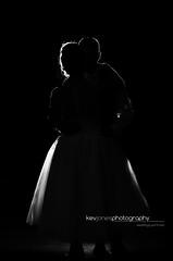 First Dance (KevJonesPhotography) Tags: red wedding blackandwhite bw first dance backlit pype hayes golf course strobist bride groom bg