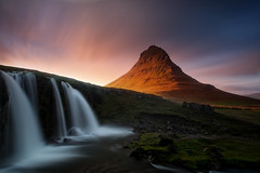Kirkjufell (Mesli) Tags: iceland mountain landscape kirkjufell waterfall kirkjufellfoss paysage long exposure golden hour nikon d810