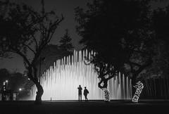 Circuito Mgico del Agua. Lima, Per (Luis Riveraw) Tags: night longexposure largaexposicin urbano calle streetphotography street explore urban lights canon lima per people personas blackandwhite blancoynegro lighting color