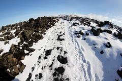 sland (loveitorleaveit) Tags: iceland island snow winter path fisheye samyang8mm