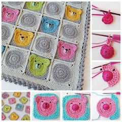 crochet Teddy Bear baby blanket (Wonderful DIY) Tags: diy pattern crochet craft blanket