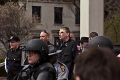 IMG_7236 (Wespennest) Tags: ohio demo spring cops nazi nazis protest police demonstration toledo armor april riotpolice riotcops neonazis nsm bodyarmor jeffschoep nationalsocialistmovement kenkrause