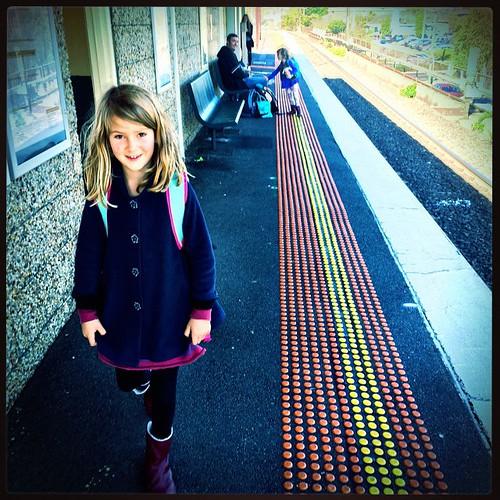 109/365 • the start of the holiday • #109_2015 #tasmania2015 #mybirthdayjourney #familypie #pattersonstation #autumn2015 #4yo #7yo #M #breathing