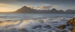 Limpid light (bingleyman2) Tags: sunset sea mountains skye scotland waves limpid elgol wonderworld