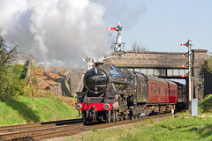 IMG_1897 (Kev Gregory) Tags: road bridge heritage work day weekend no leicester great north central working first railway 18th class steam april service locomotive gregory kev beneath railways 1000 loughborough passes lms beeches 460 2015 gcr 5mt 45305 2a06