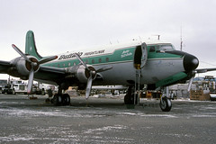 Buffalo Airways DC-4 C-GPSH 13May2000 (Peter M Garwood) Tags: canada aircraft nwt northwestterritories douglas yellowknife dc4 propliner buffaloairways skytruck cgpsh arcticdistributor