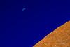 Uluru and the Moon (@PAkDocK / www.pakdock.com) Tags: trip travel viaje blue light sleeping sunset red summer sky naturaleza moon luz sol nature colors rock azul giant de landscape golden timelapse rocks long exposure mood desert angle time cuento outdoor dusk space empty sony awesome voigtlander wide australian scenic australia paisaje surface luna explore cielo hour hora stunning desierto uluru kata tjuta northern ayers puesta landschaft 15mm tale gigante breathtaking lapse territory viajar triptico triptic dormido anangu dorada a6000 pakdock wwwpakdockcom