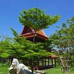 Trees and a two-storey sala in Muang Boran (Ancient Siam) in Samut Prakan, Thailand thumbnail