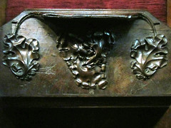 Coventry - Holy Trinity Church (pefkosmad) Tags: wood uk england church choir carved worship seat carving medieval holy coventry middleages anglican warwickshire stalls hinged holytrinitychurch hallowedground churchofengland misericord