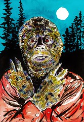 The Wolf Man by John R. Pleak 2015 (johnr.pleak) Tags: werewolf illustration watercolor dracula fanart frankenstein horror monsters wolfman horrorfilms famousmonsters horrorfilm fangoria werewolves 2015 watercolorpainting horrormovies lonchaneyjr universalmonsters famousmonstersoffilmland horrorart monsterart johnrpleak johnpleak
